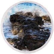 Kauai Rock Splash Round Beach Towel