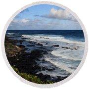 Kauai Shore 1 Round Beach Towel