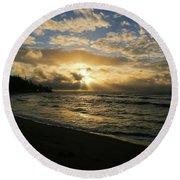 Kauai Sunrise Round Beach Towel