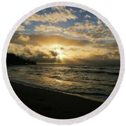 Kauai Sunrise Round Beach Towel