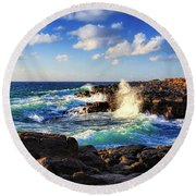 Kauai Surf Round Beach Towel