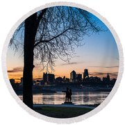 Kaw Point Park Round Beach Towel