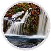 Round Beach Towel featuring the photograph Kay Falls by Scott Mahon