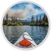 Kayak Views Round Beach Towel by Alpha Wanderlust