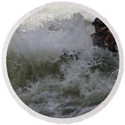 Kayaking Magic Round Beach Towel