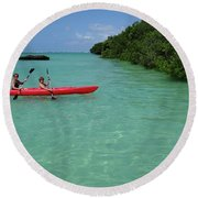 Kayaking Perfection 2 Round Beach Towel