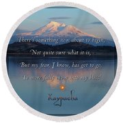Kaypacha - February 15, 2017 Round Beach Towel
