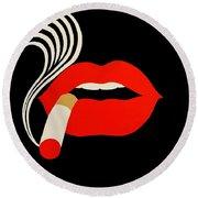 Smoking Malevich  Round Beach Towel