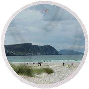 Keel Beach Achill  Round Beach Towel
