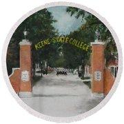 Keene State College Round Beach Towel by Jack Skinner