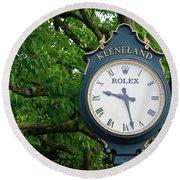 Keeneland Clock Round Beach Towel