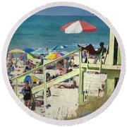 Keep Back 15 Ft Round Beach Towel