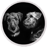 Keeper The Welsh Terrier Round Beach Towel by Peter Piatt