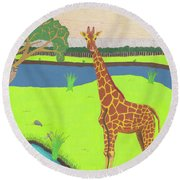 Keeping A Lookout Round Beach Towel