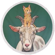 Keira The Kitten Round Beach Towel