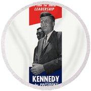 Kenndy For President Round Beach Towel