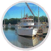 Round Beach Towel featuring the photograph Kennebunk, Maine - 2 by Jerry Battle