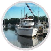 Round Beach Towel featuring the photograph Kennubunk, Maine -1 by Jerry Battle