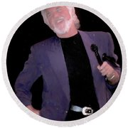 Kenny Rogers Painting Round Beach Towel