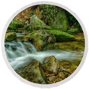 Kens Creek In Cranberry Wilderness Round Beach Towel