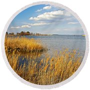 Kent Island Round Beach Towel by Brian Wallace