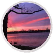 Round Beach Towel featuring the photograph Kentucky Dawn by Sumoflam Photography