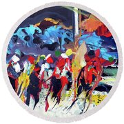 Kentucky Derby Day Round Beach Towel