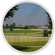 Kentucky Horse Park Round Beach Towel by Kathryn Meyer