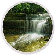 Kentucky Waterfalls Round Beach Towel