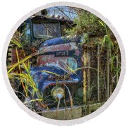Kenworth In The Weeds Round Beach Towel