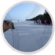 Kenya Wedding On Beach Distance Round Beach Towel