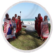 Kenya Wedding On Beach Maasai Bridal Welcome Round Beach Towel