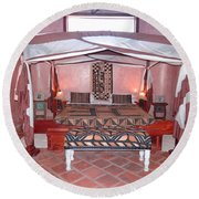 Kenyan African Traditional Double Bed Round Beach Towel