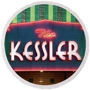 Kessler Theater 042817 Round Beach Towel