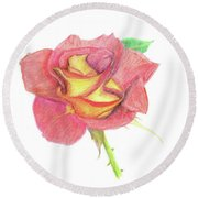 Ketchup And Mustard Rose Round Beach Towel