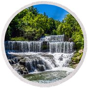 Keuka Outlet Waterfall Round Beach Towel