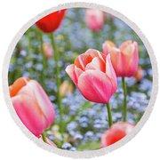 Keukenhof Tulips - Amsterdam Round Beach Towel