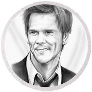 Kevin Bacon Round Beach Towel