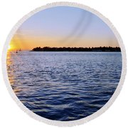 Round Beach Towel featuring the photograph Key Glow by Chad Dutson