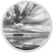 Key Largo Sunset Round Beach Towel