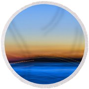 Key West Abstract Round Beach Towel