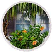 Key West Garden Round Beach Towel