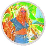 Key West Life Round Beach Towel