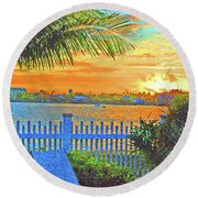 Key West Life Style Round Beach Towel