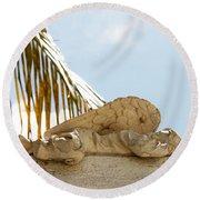 Key West Sleeping Angel Round Beach Towel