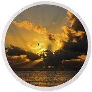 Key West Sunrise 39 Round Beach Towel