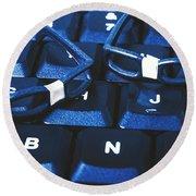 Keyboard Coders Round Beach Towel