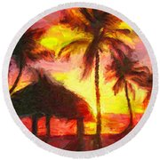 Keys Round Beach Towel