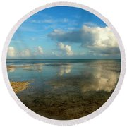 Keys Reflections Round Beach Towel