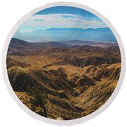 Keys View Overlook Panorama Round Beach Towel